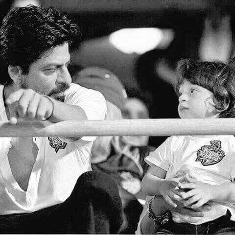 SRK and son AbRam