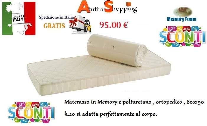 Materasso memory e poliuretano singolo