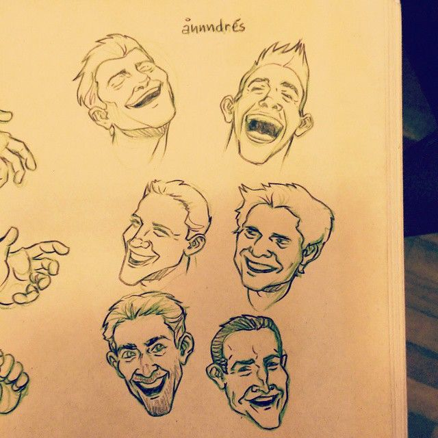 Some male cartoon smiley faces!