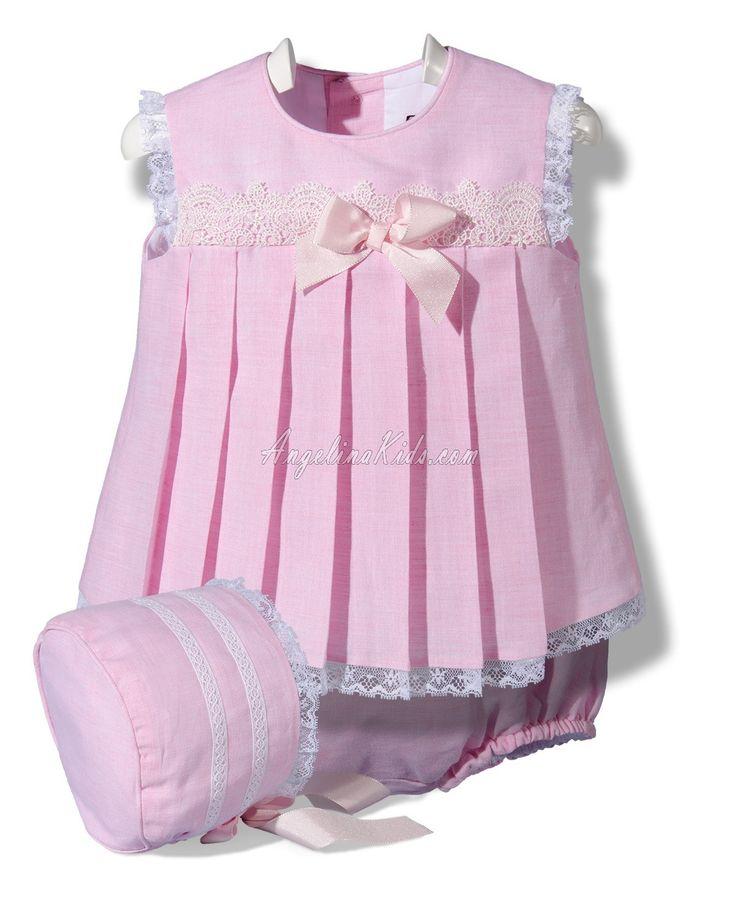 Jesusito de lino rosa con capota