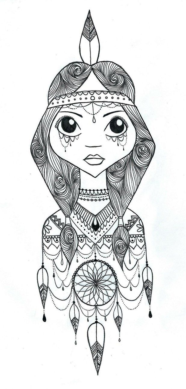 135 best dreamcatcher coloring pages for adults images on
