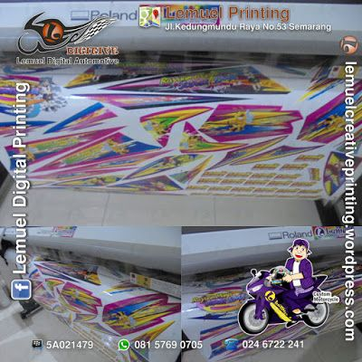Custom Sticker Decal Vinyl Striping Motor System Meteran Berkualitas By DIGITIVE