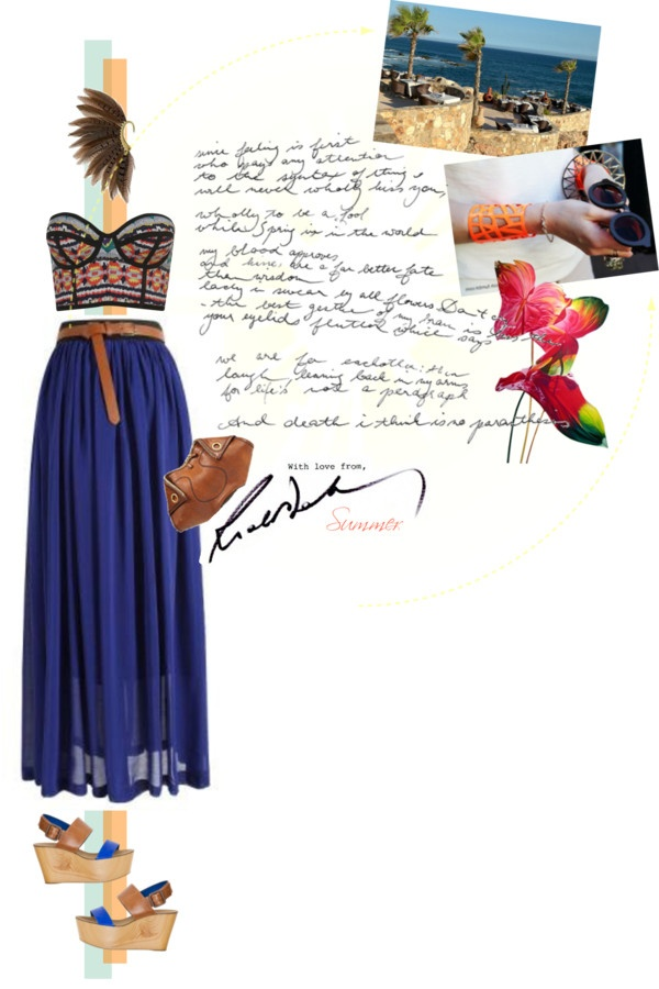 """greetings from summer :*"" by hanum on Polyvore"