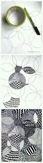 Duct tape zentangles - easy art