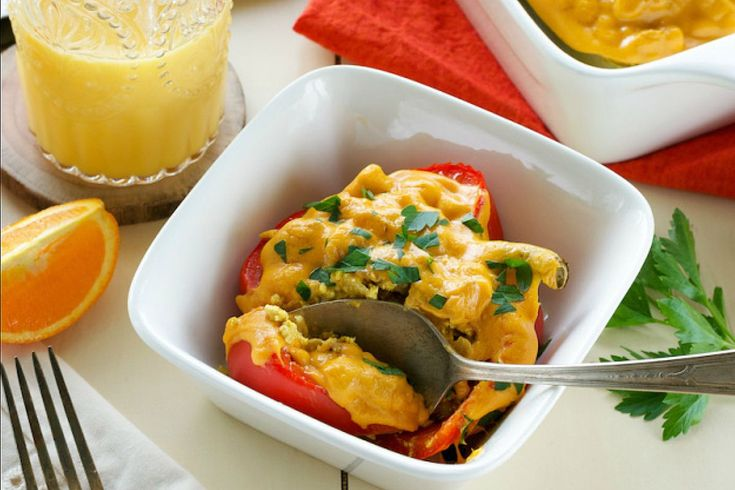 <p>With inspiration from The Food Network, I created these brunch- or dinner-worthy stuffed peppers.</p>