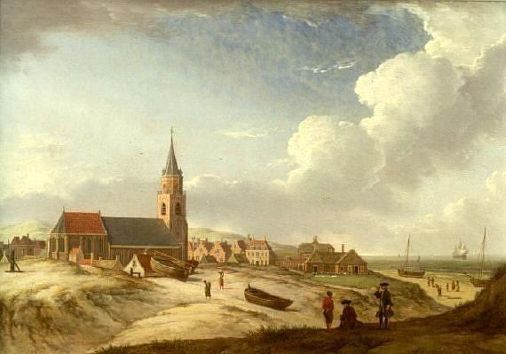 Jan ten Compe (1713-1761). Het Schuitengat in Scheveningen, 1751.