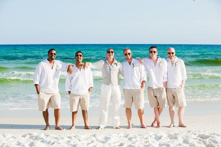 Magenta Wedding attire for groomsmen | Beach Wedding Groomsmen Attire And Groom Inspiration
