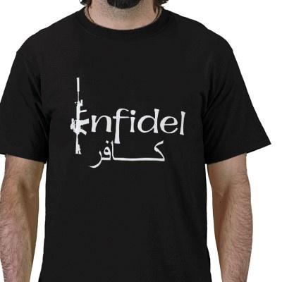 Infidel (Arabic writing) Shirts from http://www.zazzle.com/infidel+tshirts