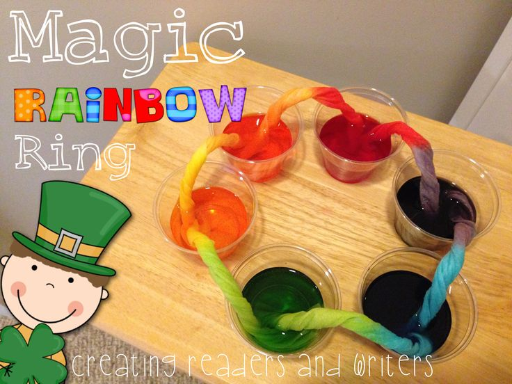 """Magic Rainbow Ring"" from ""St. Patrick's Day Science."" Five investigations... so much engaging, hands-on, smart fun! ($) #stpatricksday #science"