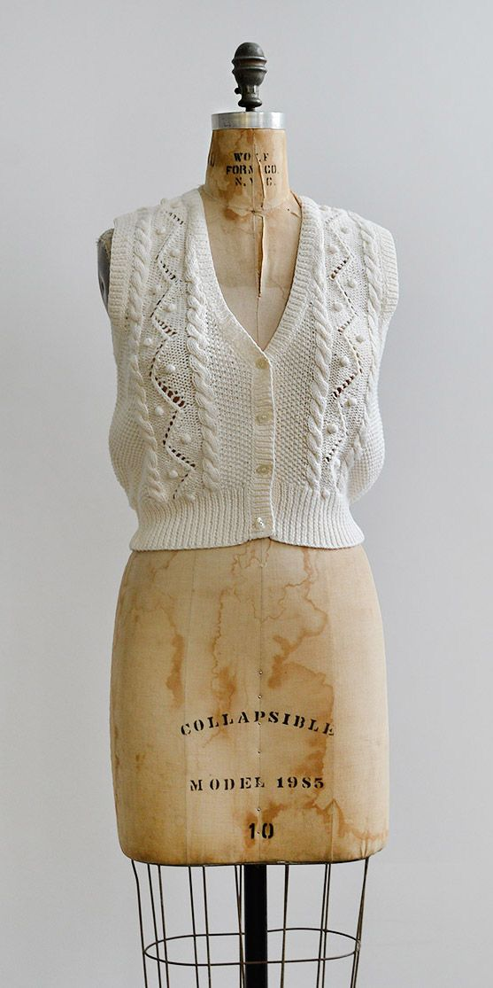 Cottontail Vest / www.adoredvintage.com