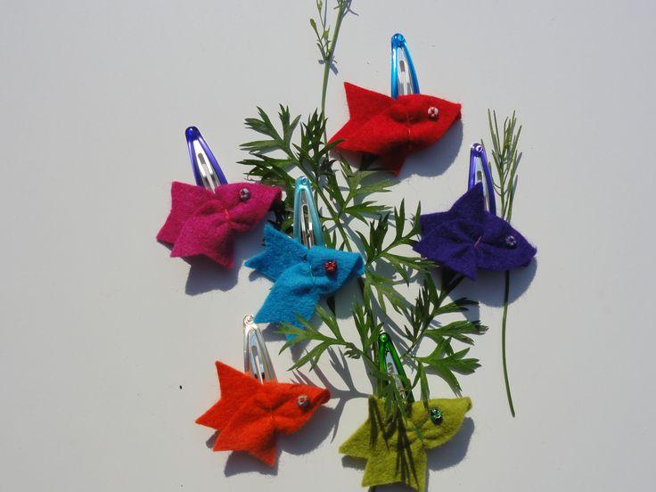 voor alle meisjes die net hun zwemdiploma hebben of gewoon leuk, blub haarspeldje vis van 100% wolvilt www.mooiismooi.nl