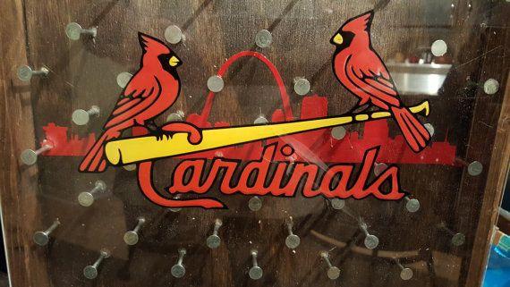 Cardinals Drinko Plinko Bottle Opener Game by HoosierWoodbox