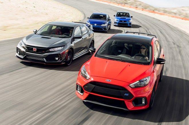 Ford Focus Rs Vs Honda Civic Type R Vs Volkswagen Golf R Vs