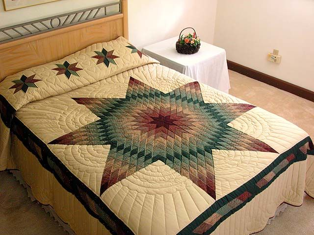 lone star quilt pattern | Lone Star Quilt -- exquisite ably made Amish Quilts from Lancaster ...