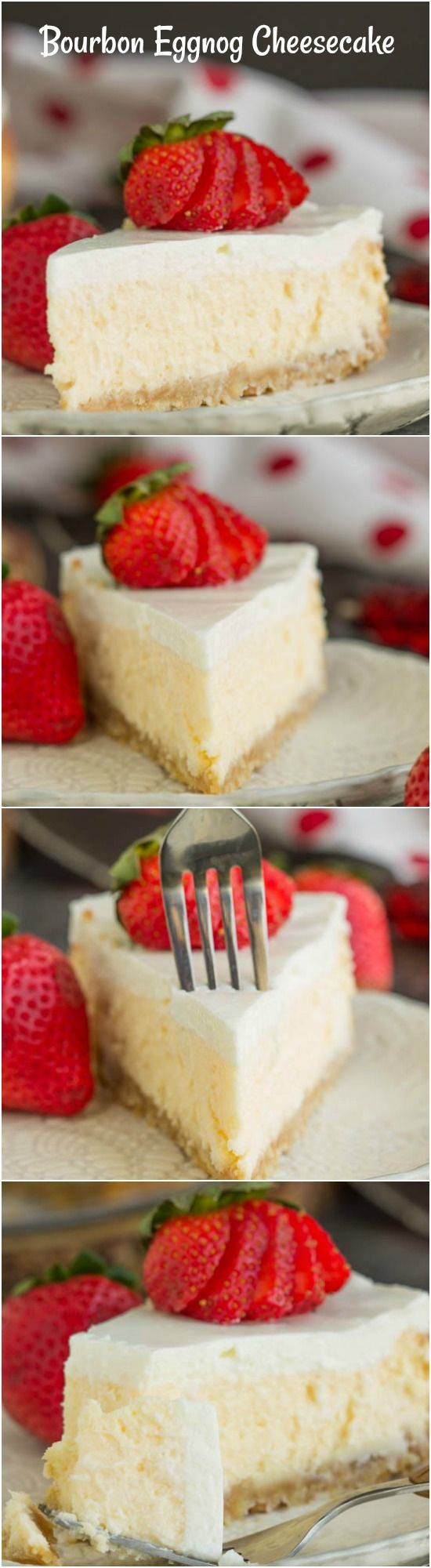 Woodford Reserve Bourbon Eggnog Cheesecake with Vanilla Wafer Crust https://www.callmepmc.com/woodford-reserve-bourbon-eggnog-cheesecake-with-vanilla-wafer-crust/?utm_campaign=coschedule&utm_source=pinterest&utm_medium=Paula%20%7C%20CallMePMc.com&utm_content=Woodford%20Reserve%20Bourbon%20Eggnog%20Cheesecake%20with%20Vanilla%20Wafer%20Crust