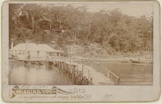 The old Bridge, Mosmans Bay, Sydney, ca. 1890 / photographer unknown | Flickr - Photo Sharing!