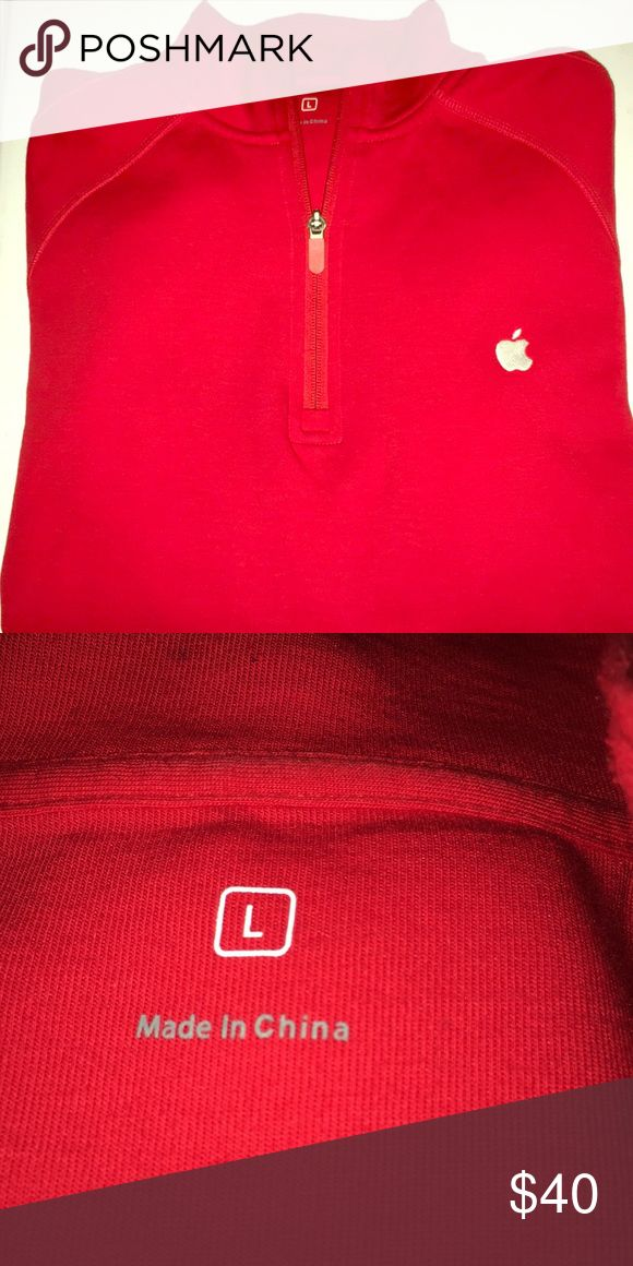 Quarter Zip Apple crewneck pullover shirt LNC Quarter Zip Apple crewneck pullover shirt Like New Condition Shirts Sweatshirts & Hoodies