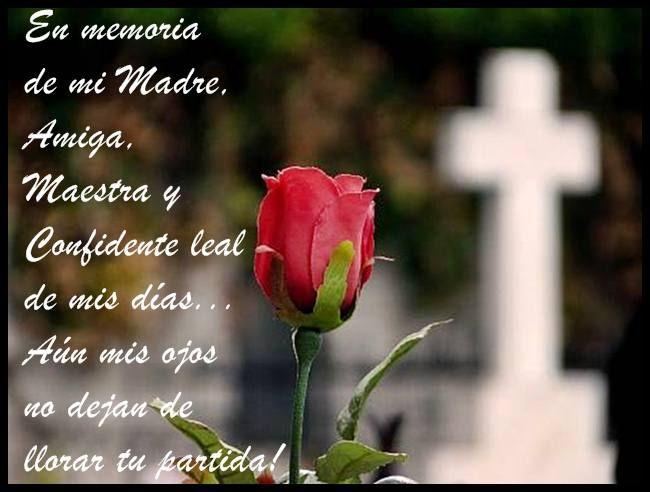 En memoria de una madre fallecida