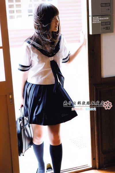 Студенческая одежда японская школьная форма девушки униформа с отложным воротником сейлор рубашка + юбка морской косплей костюм купить на AliExpress
