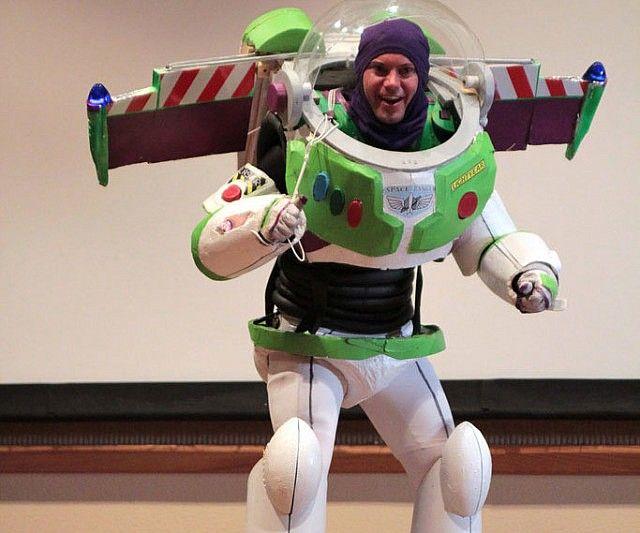 from Otis adult buzz lightyear costume