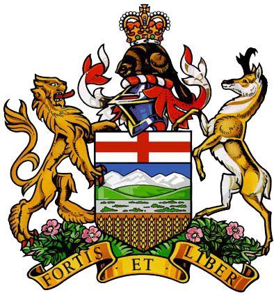 Alberta, Canada. Coat of Arms.