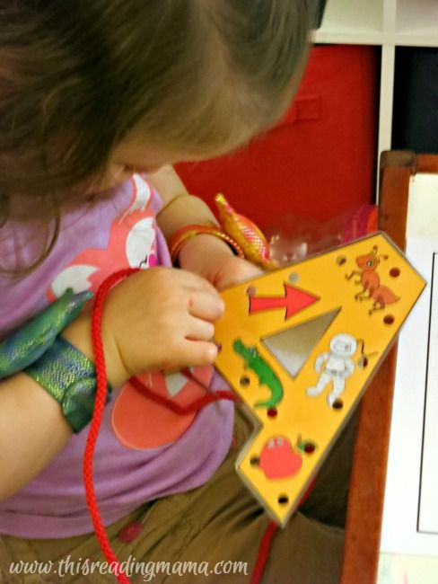 October 12-16 Come Join in our Story Time Lab for some fun hands on activity with Letter Lacing Cards. We learn our letters and practice hand eye coordination.
