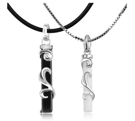 Find More Pendant Necklaces Information about Hot Sale Fashion Statement Couple Necklace Blacek/White for Men/Women Boyfriend Lovers' Gifts,High Quality Colar De Casal N1034,High Quality necklace twist,China necklace swarovski Suppliers, Cheap necklace tribal from ULove Fashion Jewelry Store on Aliexpress.com