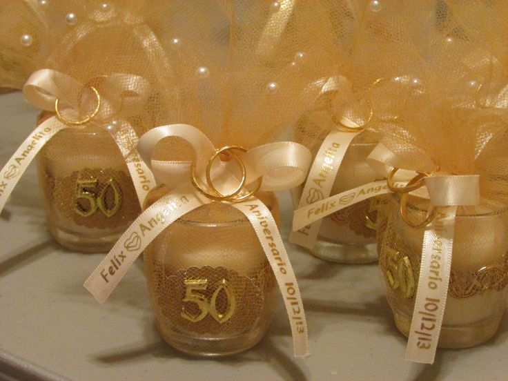 Gift Ideas For 50th Wedding Anniversary Party: 50th Anniversary Party Favors DIY