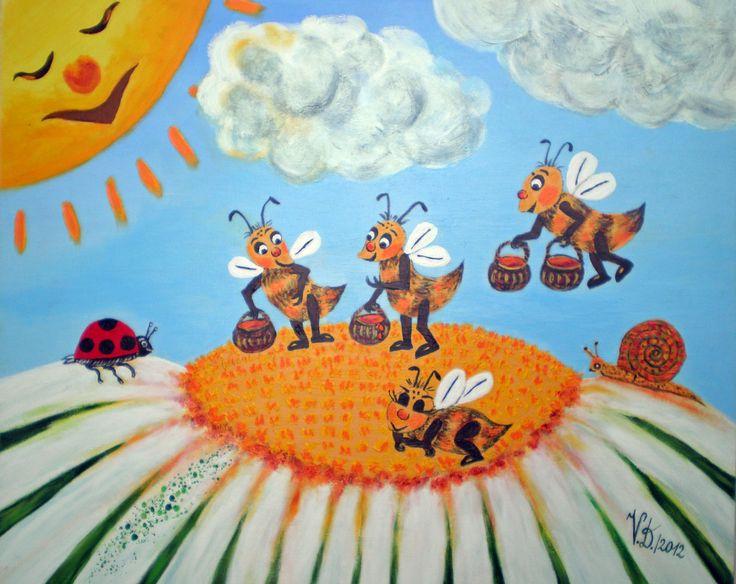 Honigzeit, Puzzle in Acryl