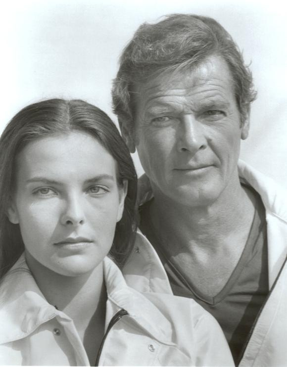 Carole Bouquet and Roger Moore (For Your Eyes Only - 1981)