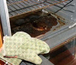 homemade oven cleaner. great website with different ways to clean your oven with items you have at home. I just used #4 and it work awesome.. will definetly use this site instead of buying oven cleaner from the store.