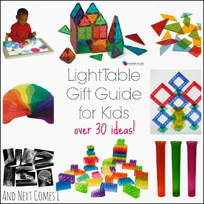 The Ultimate Light Table Gift Guide for Kids - over 30 ideas, including some DIY alternatives from And Next Comes L