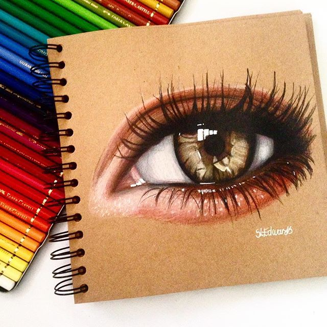 Eye drawing done in Faber Castell Polychromos