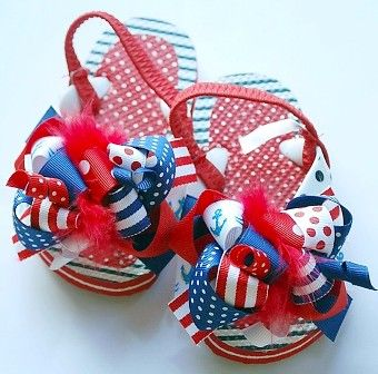 Funky Fun Nautical Flip Flops   http://www.thegirlybaby.com...we have ordered so many things for Adleigh from there!!