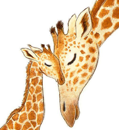 Nursery Art Print Giraffe WHITE or GREEN por StorytimeStudios