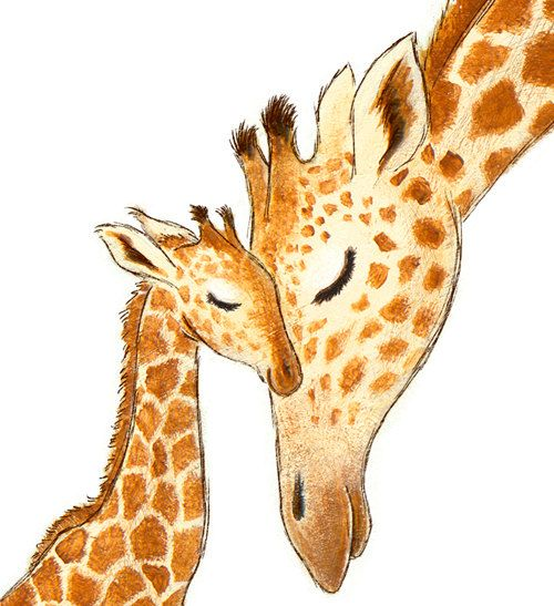 Nursery Art Print Giraffe WHITE or GREEN por StorytimeStudios