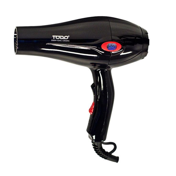 Ionic Anti Frizz Hair Dryer w/ LCD Display in Black | Buy Hair Dryers