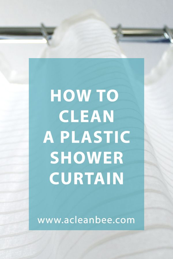 How To Clean A Plastic Shower Curtain Plastic Shower Curtain Shower Cleaner Bathroom Cleaning