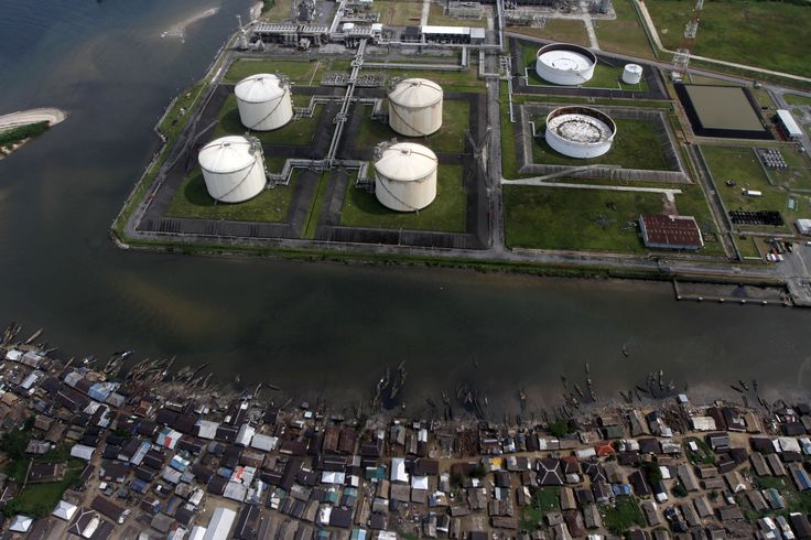A view of the Nigeria Liquified Natural Gas company (NLNG) near Finima village - #OilBook #Nigeria #Africa #Energy #oilandgas #oil