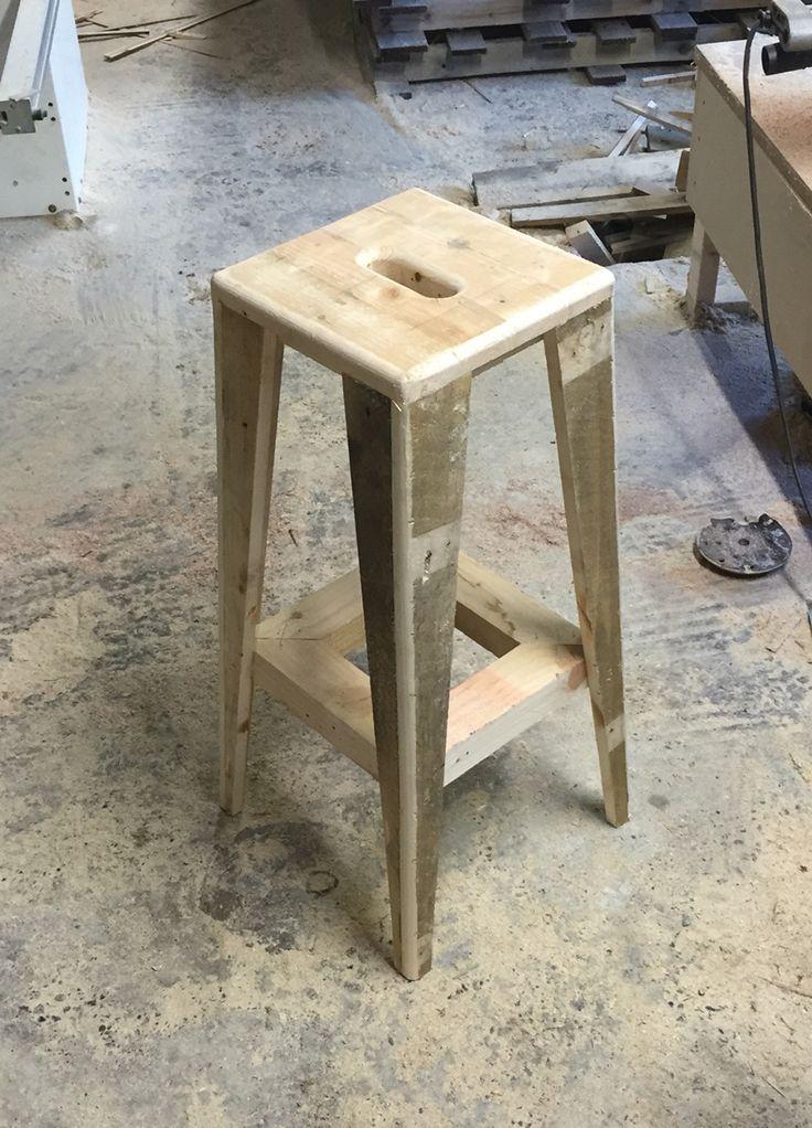 Utilitarian Pallet Wood Stool Design For Micropub