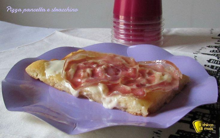 #Pizza con #pancetta e #stracchino #ricetta #foodporn #senzaglutine #glutenfree #recipe #bacon #cheese http://blog.giallozafferano.it/ilchiccodimais/pizza-con-pancetta-e-stracchino-ricetta-sfiziosa/