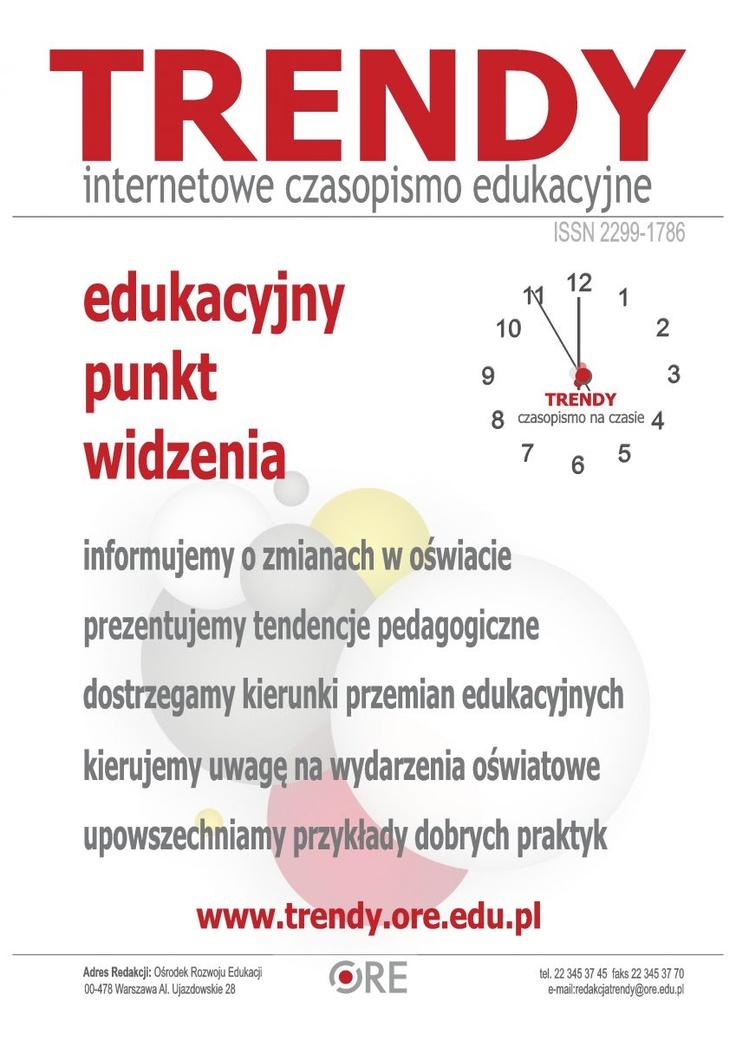 Ośrodek Rozwoju Edukacji - Trendy - Czasopismo z inspiracjami dla nauczycieli