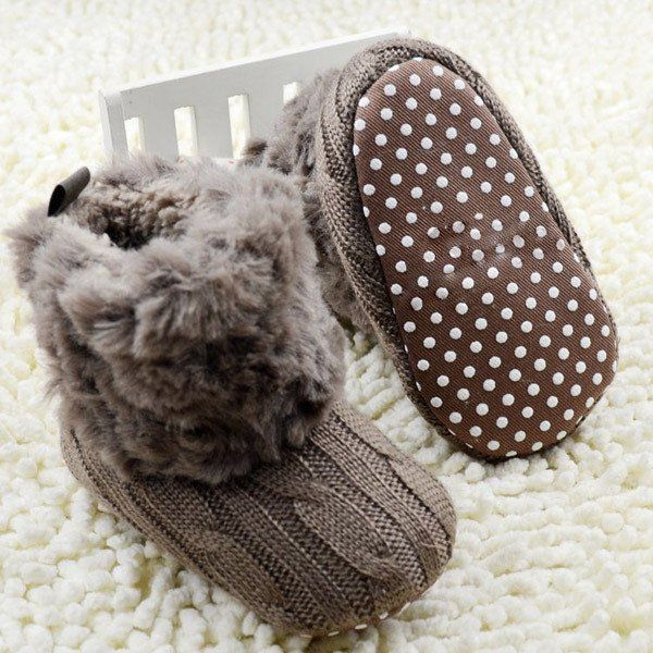 2016 Winter Infant Crochet Baby Shoes