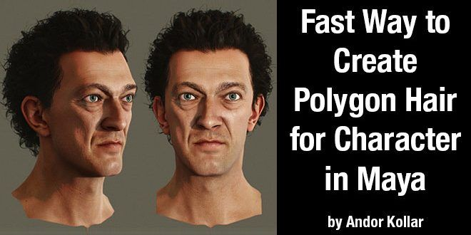 tutorial-fast-way-to-create-polygon-hair-for-character-in-maya-by-andor-kollar