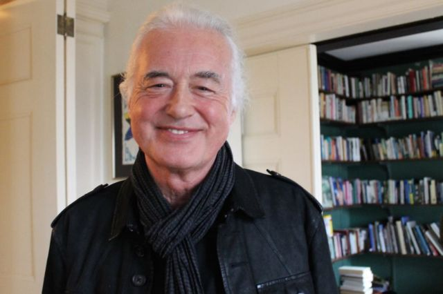 Jimmy Page at Wellesley College in Massachusetts on April 21 (Facebook/Wellesley College English Department) as he's travelling around the US with his girlfriend Scarlett Sabet while she is on her poetry tour.