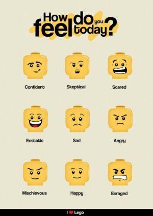 Come ti senti oggi? LEGO emotions