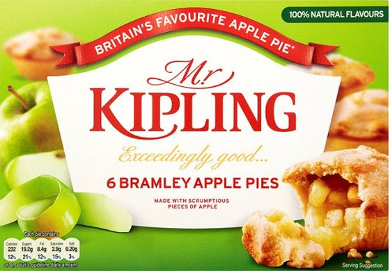 Mr Kipling Apple Pies 13oz 6 pack $6.69 - Melt-in-the-mouth pastry, bursting with chunks of real Bramley apple. I'm sure you'll agree they are exceedingly good cakes.