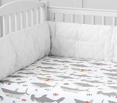 Shark Crib Fitted Sheet #pbkids
