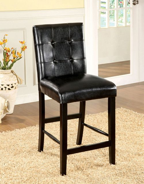 Furniture of America Bahamas Counter Height Chair (set of 2) CM3188BK-PC-2PK