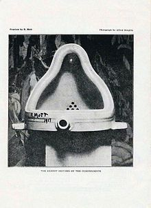 """Fountain by Marcel Duchamp (1917).  I just love the snarkiness of this """"found object"""" art piece."""